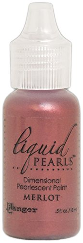 - Ranger Merlot Liquid Pearls Dimensional Pearlescent Paint .5oz