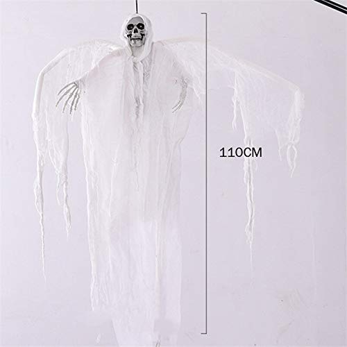 Scary Skull Halloween Hanging Ghosts White Grim Reaper Ghost With Wings Home Door Bar Club Scary Halloween Ghosts Horror Props]()