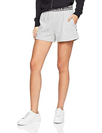 Bonds Women's Essentials Terry Short, New Grey Marle, XX-Small