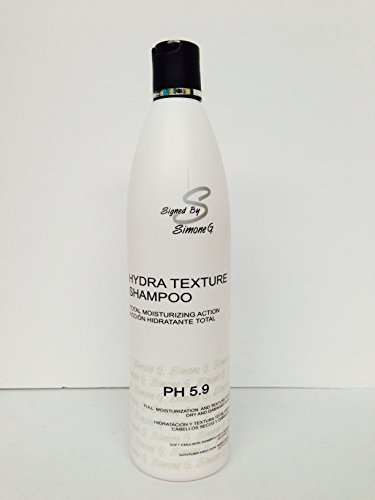 Signed By Simone G Hydra Texture Shampo for Full Moisturizing & Texture for Dry & Damaged Hair Ph 5.9 17 Oz by Signed By Simone G