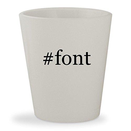 #font - White Hashtag Ceramic 1.5oz Shot - La Glasses Fonte