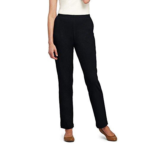 Lands' End Women's Petite Sport Knit Pants, XS, (Elastic Waist Petite Knit Pants)