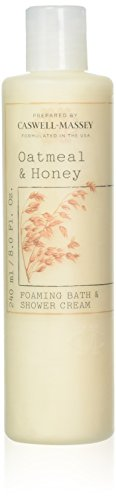 Caswell-Massey Oatmeal and Honey Foaming Bath and Shower Cream - Sulfate-Free Natural Body Wash, Made In USA - 8 Ounces