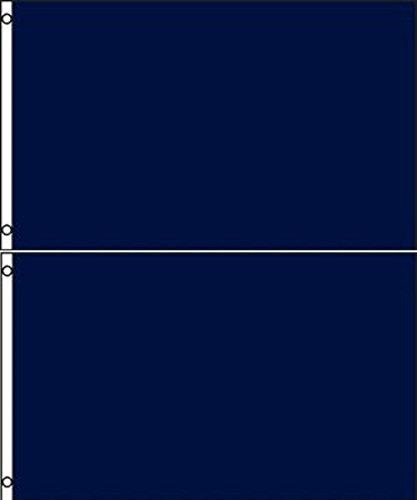 Printed Nylon Flag - Lot 2 2x3 Solid Plain Dark Navy Blue Printed Nylon Flag 2'x3' Advertising Banner