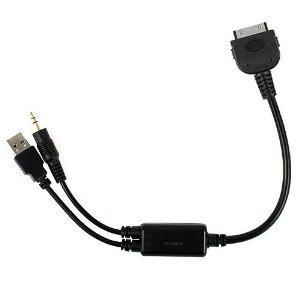 Ipod Adapter (Mosuch iPod Adapter Charge and Audio Cable with USB and 3.5mm for Select BMW and Mini Cooper Car Models - Control From Your Wheel)