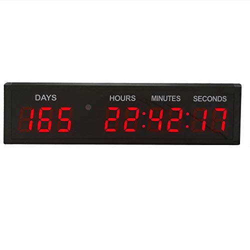 BTBSIGN LED Countdown Clock Safety Event Timer with Remote and Buttons for 1.8'' 9 Digits
