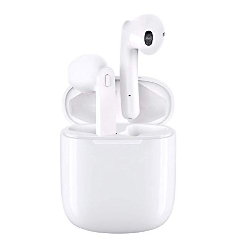 Wireless Earbuds Bluetooth Headphones 5.0 Stereo Hi-Fi Sound with Deep Bass Wireless Earphones Built-in Mic Headset 23.2 Hours Playtime, in-Ear Bluetooth Earphones with Charging Case