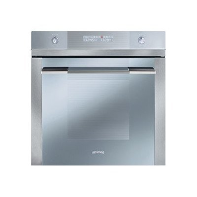 """Price comparison product image Smeg SF112U 24"""" Linea Series Built-In Single Electric Wall Oven with 2.8 cu.ft. Capacity Ergonomic Backlit Transparent Controls Digital Electronic Program with Multi-Display and Rapid Preheat in"""
