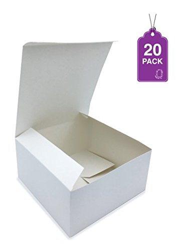 Gift Boxes White 20 Pack 8 x 8 x 4 Great For All Occasions G
