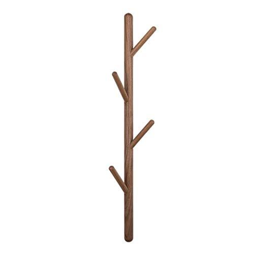Zcx Nordic Twigs Hooks Wooden Belt Hook Wall Hanging Coat Rack Environmental Protection Black Walnut Solid Wood Hanger (Color : FAS Black Walnut)