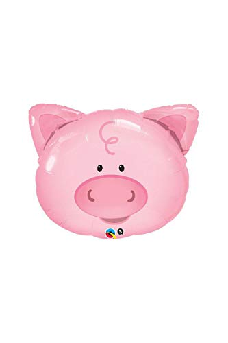 Qualatex Playful Pig Microfoil Balloon, 30-Inches (1-Pack) ]()