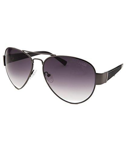GUESS Eyewear Aviator Sunglasses Gunmetal