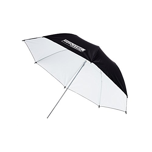Fovitec - 1x 33 inch White Photography & Video Reflector Umbrella - [Reinforced Fiberglass][Lightweight][Easy Set-up][Collapsible][Durable Nylon] by Fovitec