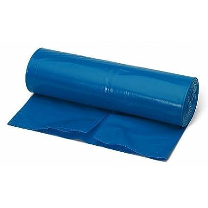 Rollo de 10 bolsas de basura de comunidad EXTRARESISTENTES Clim Profesional® de tamaño 80X105 cm. Color AZUL. Bolsas de basura para cubo estándar de ...