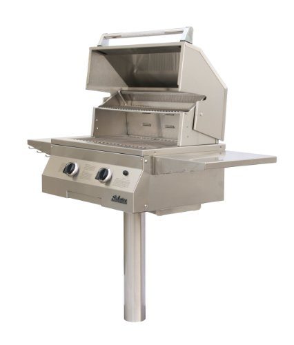 Solaire 27-Inch Basic InfraVection Natural Gas In-Ground Post Grill, Stainless ()