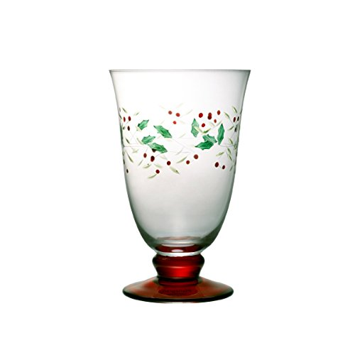 Holly Goblets - Pfaltzgraff Winterberry 14-Ounce Glass Water Goblets, Set of 4