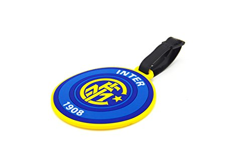 CellDesigns Set of 2 Soccer Team Football Club Luggage Tag Suitcase ID Tag with Adjustable Strap (Inter Milan)