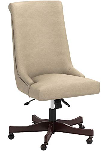 Stone & Beam Nailhead Swivel Office Chair with Wheels, 28.4″W, Fawn - 8