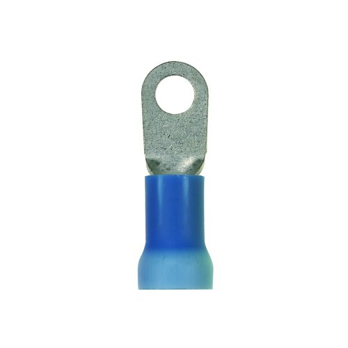 (Panduit PV6-14RX-X Ring Terminal, Large Wire, Vinyl Expanded Insulation, 6 AWG Wire Range, 1/4