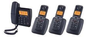 Binatone/ Motorola - Motorola Corded/Cordless 4-pack