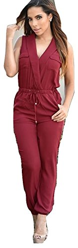 Neue Damen Wein Shirt Style Jumpsuit Club Wear Party Wear Größe 10�?2EU 38�?0