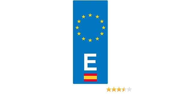Artimagen Pegatina Matrícula Bandera España 40x100 mm.: Amazon.es ...