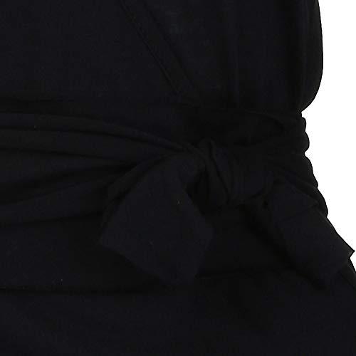 Manches V Chemise Grande en Aux en Longues Noir Vrac Taille LianMengMVP Blouse Femmes Tunique Haut Col HqI6B8