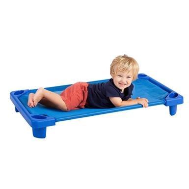 ECR4Kids Standard/Toddler Assembled Streamline Stackable Daycare Rest Cot & Casters
