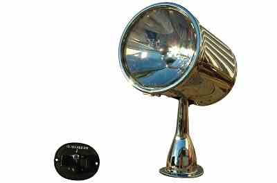 Marine Searchlight with motorized remote control with 7 inch lens wireless and wired remote control