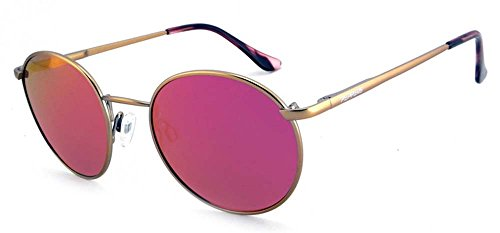 New Peppers Polarized Sunglasses Lennon Matte Rose Gold with Pink Mirror Lens - Mens Sunglasses New Peppers