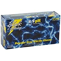 Atlantic Safety Products (BLGBL-XL) Black Lightning Black Nitrile Gloves, XLarge