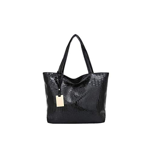 LENXH Retro Shoulder Bag Ladies Handbag Solid Color Travel Bag Large Capacity Handbag Crocodile Pattern Bag