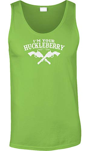 Blittzen Mens Tank Im Your Huckleberry, M, Lime Green -