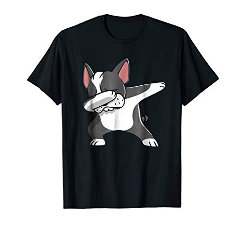 Dabbing Boston Terrier Shirt Funny Bostie Shirt For Kids -