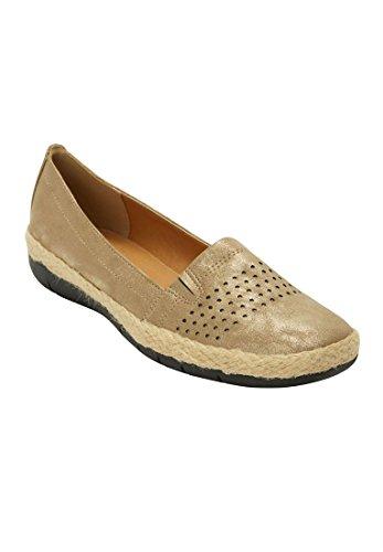 Oferta De Catálogo De Ganga Comfortview Plus Size Suzy Flats Bronze
