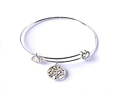 Equilibrium Silver Plated Harlequin tree of life bangle LWwHqYP6r