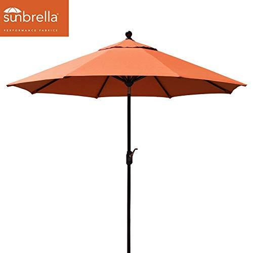 EliteShade Sunbrella 9Ft Market Umbrella Patio Outdoor Table Umbrella with Ventilation (Sunbrella - 100% Dyed Solution Acrylic