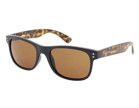 TIMBERLAND TB9063 01H - shiny black / brown polarized Injected (Wayfarer Timberland Sunglasses)