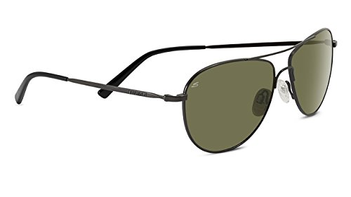 Serengeti Alghero Polarized Drivers Sunglasses, Shiny Dark Gunmetal