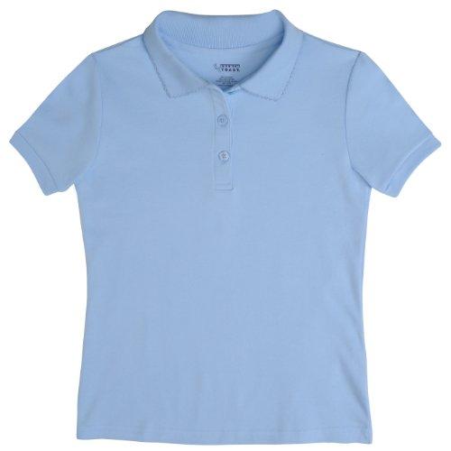 FRENCH TOAST School Uniforms Girls Short Sleeve Interlock w/ Picot Collar A9423