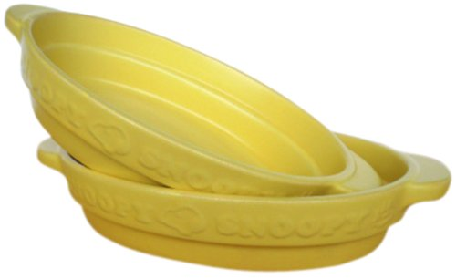 SNOOPY SET ITEMS (YELLOW) Snoopy oval gratin 2P SNG-10Y-2P