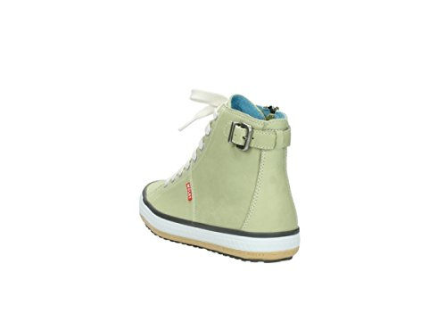 Wolky Womens 1225 Biker Leather Trainers 270 light green leather