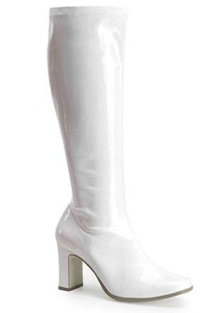 Funtasma by Pleaser Women's Kiki-350 Boot,White Stretch Patent,9 M (White Patent Footwear)