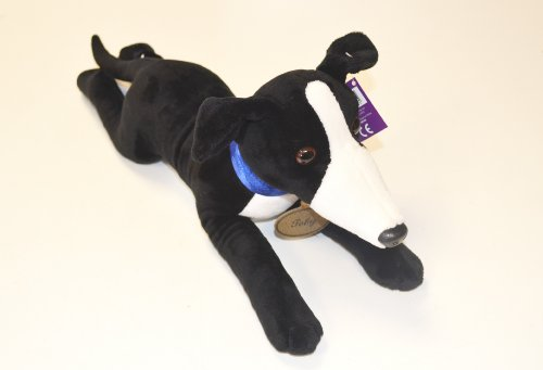 Beautiful Black and White Greyhound Soft Toy - Toby 40cm - Limited Edition (Greyhound Stuffed Animal)