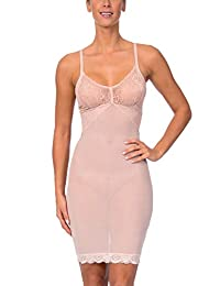 Body Beautiful Full Body Slip Shaper with Lace and Adjustable Straps