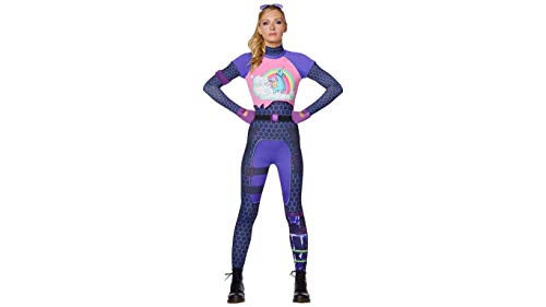 Fortnite Brite Bomber Adult Halloween Costume Video Game Jumpsuit Costume (Adult Large)