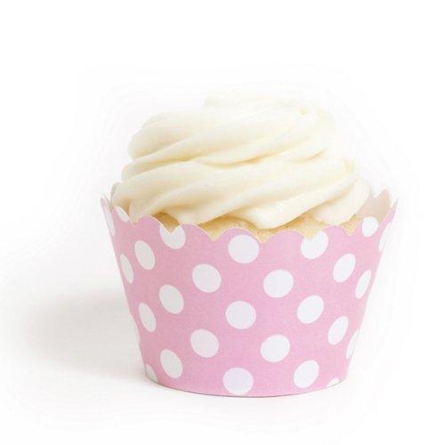 (Dress My Cupcake Pink Polka Dot Cupcake Wrappers, Set of 12)