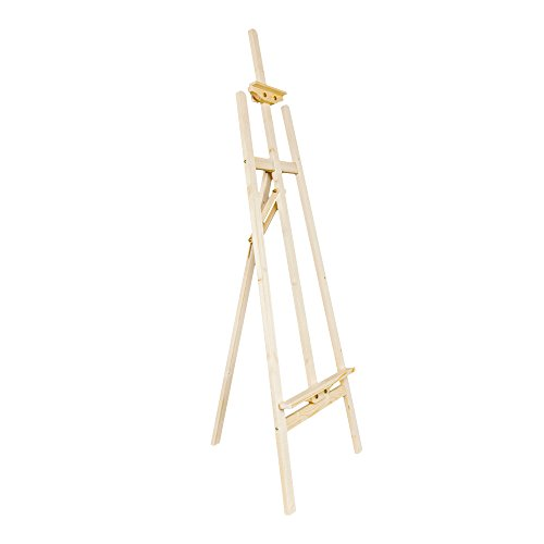 Mallmall 57 inch Tall Natural Wood Adjustable Tripod Art Easel, Presentation Display Stand by Mallmall
