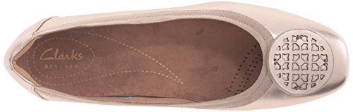 Clarks Women's Candra Blush Flat, Gold/Metallic, 10 M US by CLARKS (Image #8)
