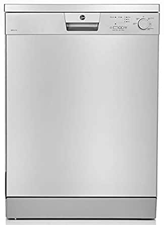 Hoover 5 programs 12 Place Settings free standing Dishwasher, Made in Turkey, Silver - HDW1217-S
